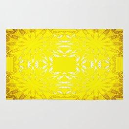 Yellow Color Burst Rug