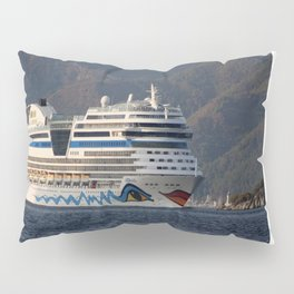 Aida Stella Cruise Ship Leaving Marmaris Pillow Sham