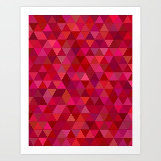 Bloody triangles Art Print