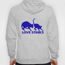 cat love stinks Hoody