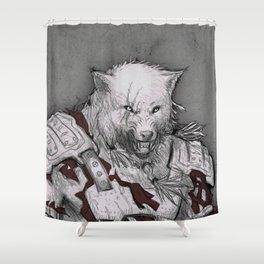 Fenris the DireWolf  Shower Curtain