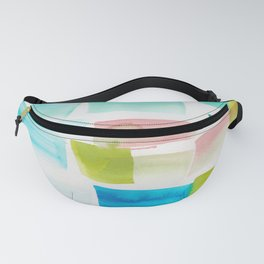 12     190304 Watercolour Painting Abstract Pattern Fanny Pack