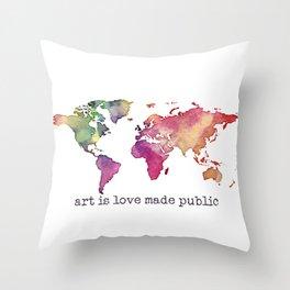 art is love made public Throw Pillow
