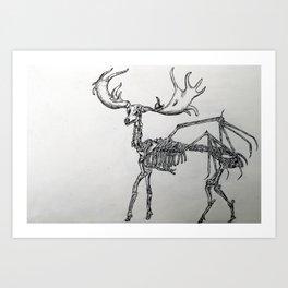 Elk skeleton Art Print