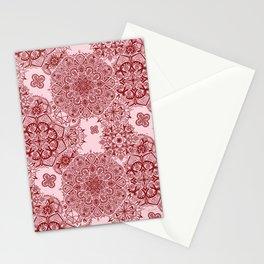 Mandala Pattern - Red Stationery Cards