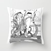 apollonia Throw Pillows featuring asc 515 - Sketchwork by From Apollonia with Love