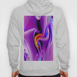 Waves and swirls, abstract, decorative patterns, colorful piece no 23 Hoody