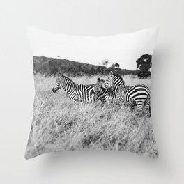 in a row::kenya Throw Pillow