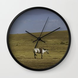 A Nomads Horse Wall Clock