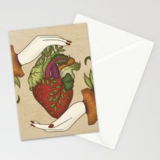 Eating is caring Stationery Cards