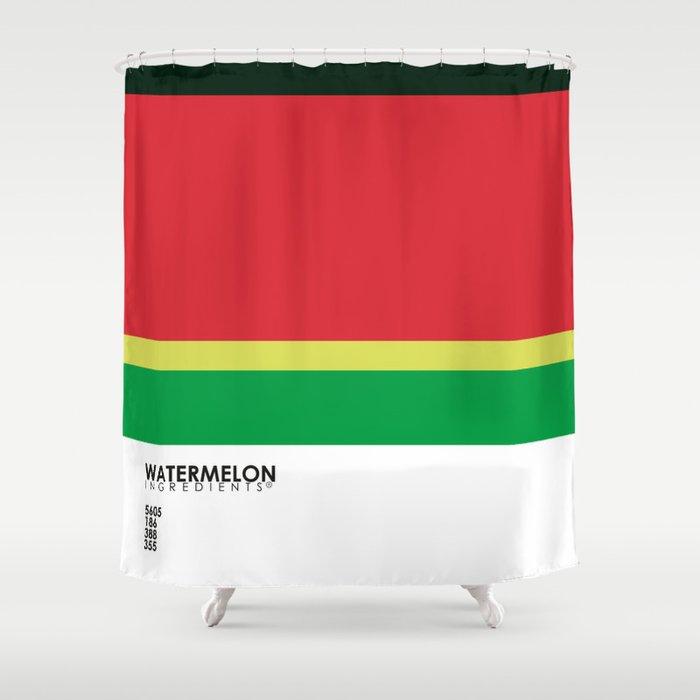 Pantone Fruit - Watermelon Shower Curtain