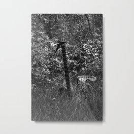 Antique Grass Cutter in a Field Metal Print