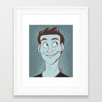 stiles Framed Art Prints featuring Stiles by The Art of Nicole