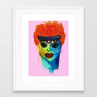 ginger Framed Art Prints featuring Ginger by Shana Dennis