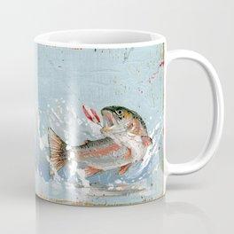rainbow trout on a hook Coffee Mug