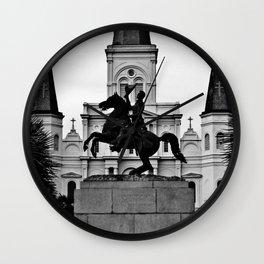 Jackson Square, squared Wall Clock