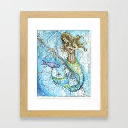 Key Largo Mermaid Framed Art Print
