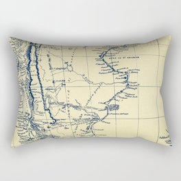 Patagonia - Blue Vintage Rectangular Pillow