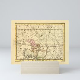 Vintage Sagittarius Constellation Map (1822) Mini Art Print