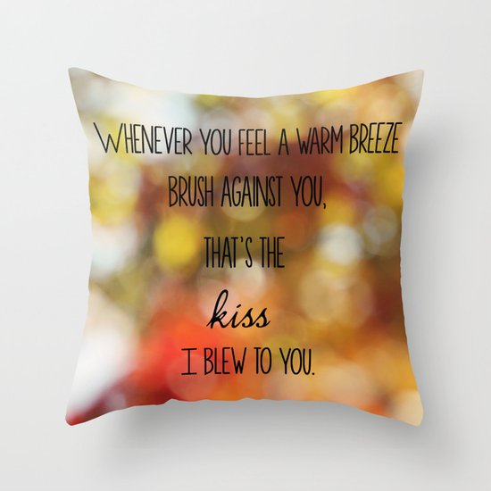 Warm Breeze Throw Pillow