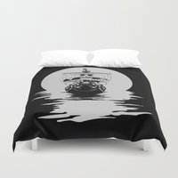 luffy Duvet Covers featuring Mugiwara Pirates by Anuktoy