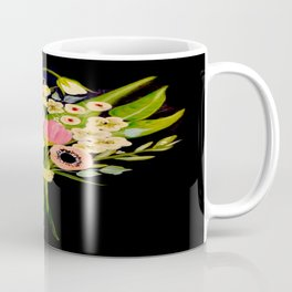 Floral Bouquet on Black Background Coffee Mug