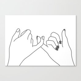 Pinky Promise 3 Canvas Print
