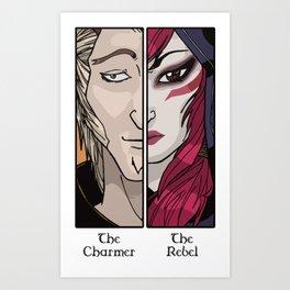 Rakan the Charmer Xayah the Rebel League of Legends Art Print