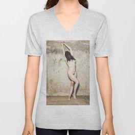 Woman nude #M0630 Unisex V-Neck