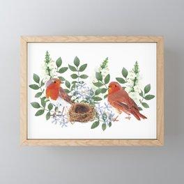 Birdies in the nest Framed Mini Art Print
