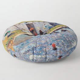 Pierre-Auguste Renoir - The Bathing Hour, Chester, Nova Scotia Floor Pillow