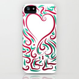 Heart Graphic by Leslie Harlow iPhone Case