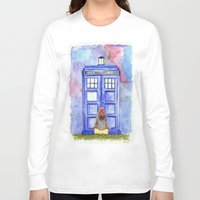 amy pond Long Sleeve T-shirts featuring Come along, Pond by Kate Trozzi