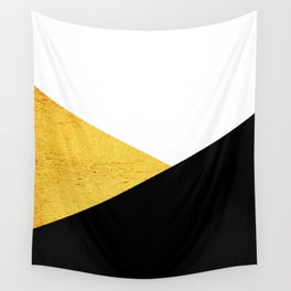 Gold & Black Geometry Wall Tapestry