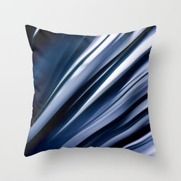 Blue Straws 1 Throw Pillow