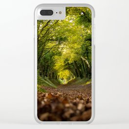 Green Tunnel Vision Clear iPhone Case