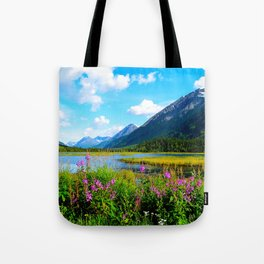 God's Country - Summer in Alaska Tote Bag
