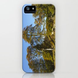 Autumnal trees in Grasmere. Lake Distirct, UK. iPhone Case
