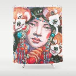 Red Pandas Shower Curtain