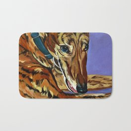 Emmitt the Whippet Dog Portrait Bath Mat