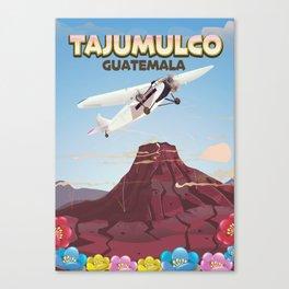 Tajumulco Guatemala volcano poster Canvas Print