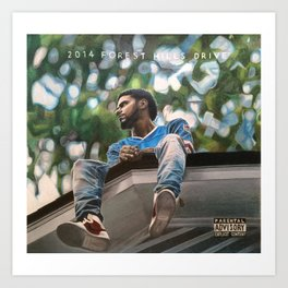 J.Cole 2014 Forest Hills Drive Drawing Art Print