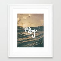 pocketfuel Framed Art Prints featuring NEW DAY by Pocket Fuel