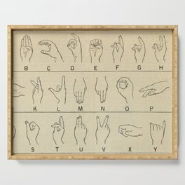 Sign Language Alphabet Serving Tray