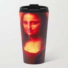 Mona Lisa's Haze (red) Metal Travel Mug
