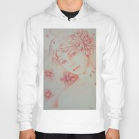 leah flores Hoodies featuring Flores. by marmaseo