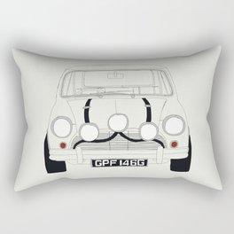 The Italian Job White Mini Cooper Rectangular Pillow