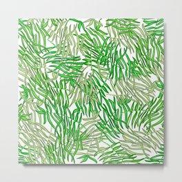 Tropical in greens Metal Print