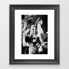 Show Me Your Hands Framed Art Print