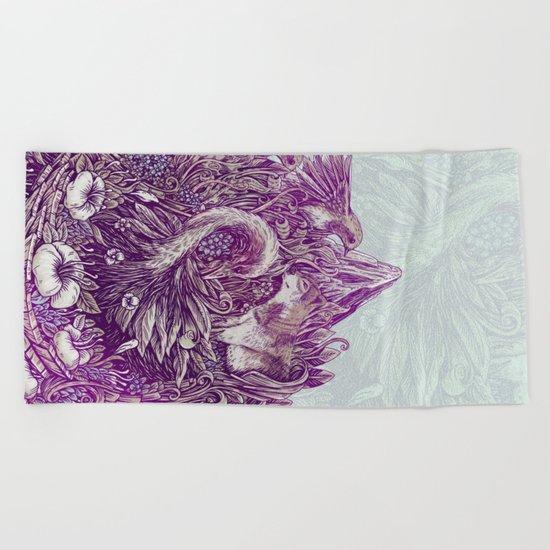 Peaceful Jungle Beach Towel